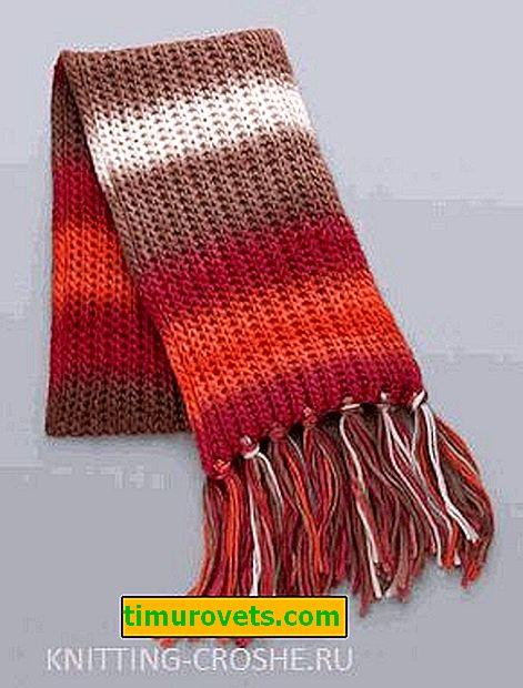 Как да си направите ресни на шал
