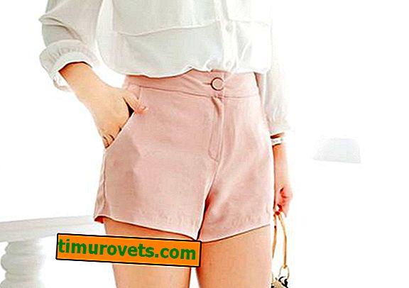 Shorts mønster med høj talje