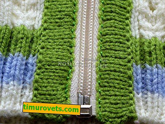 Kako šivati patentni zatvarač u pleteni džemper