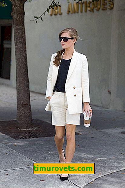 Как да носите бели шорти