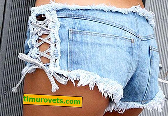 วิธีการตกแต่งกางเกงขาสั้นผ้ายีนส์ด้วยมือของคุณเอง