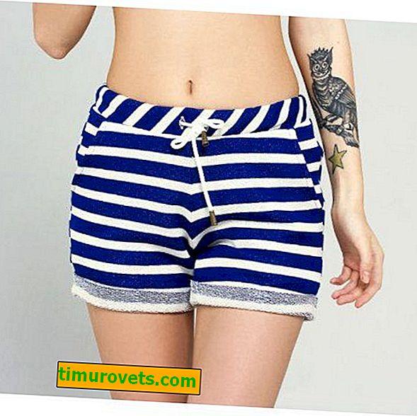 Stribede shorts: hvad man skal have