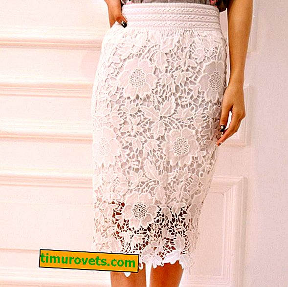 How to lengthen a lace skirt