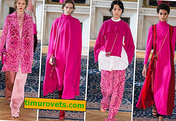 Fuchsia color combination in clothes