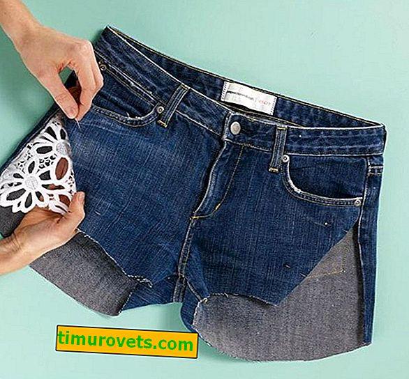 Cómo aumentar los pantalones cortos de mezclilla en los lados