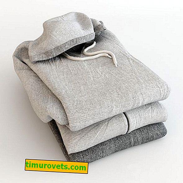How to fold a sweatshirt with a hood