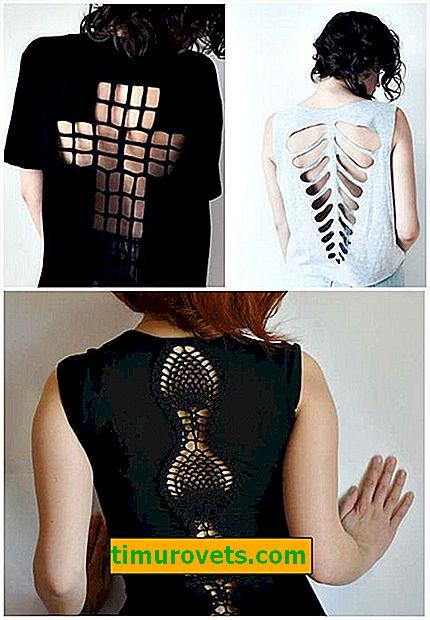 Как да отрежете тениска красиво