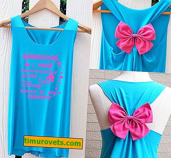 Как да направите рокля от тениска