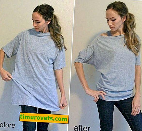 Jak si vyrobit dámské tričko z muže