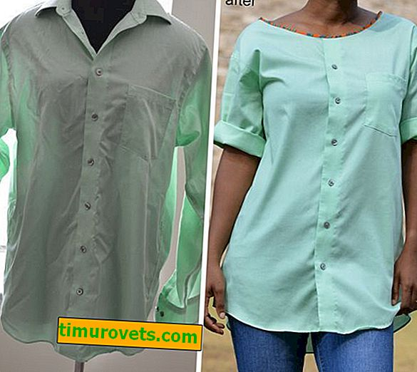 Sådan genindarbejdes en herre-shirt i en kvinders bluse