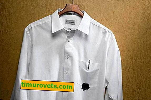 Как да премахнете писалка (мастило) от бяла риза?