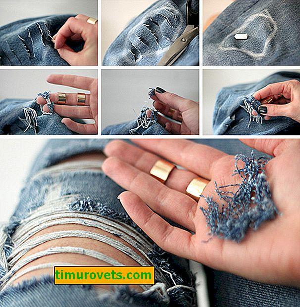 Как да направите дупки в дънки