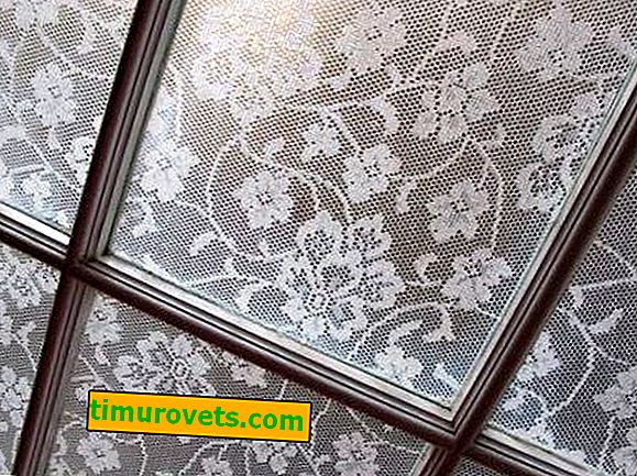 How to glue tulle on a window