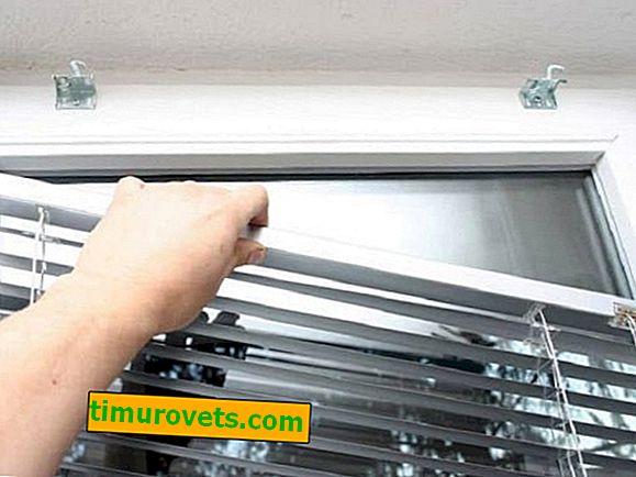 Kako ukloniti rolete s prozora da se opere