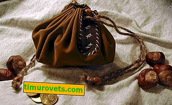 Chestnut in a bag as a protective talisman