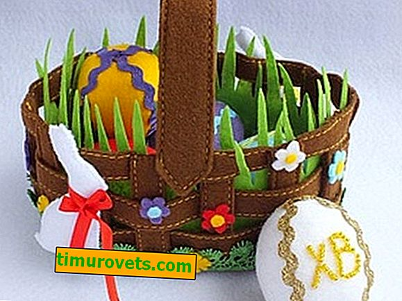 What to quickly make an Easter basket from?