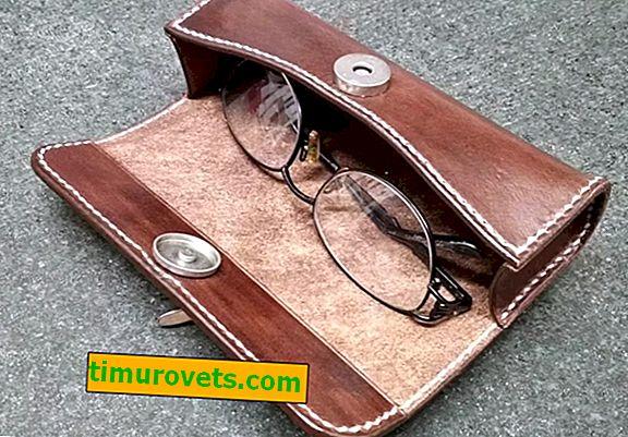 DIY кожен калъф за очила
