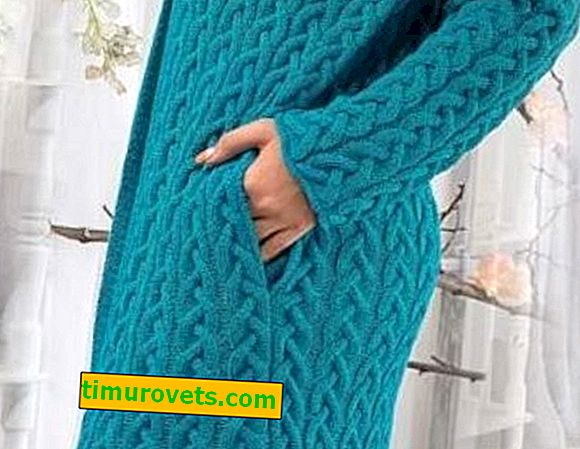 ¿Cómo tejer bolsillos en las costuras laterales de un cárdigan y suéteres con agujas de tejer?