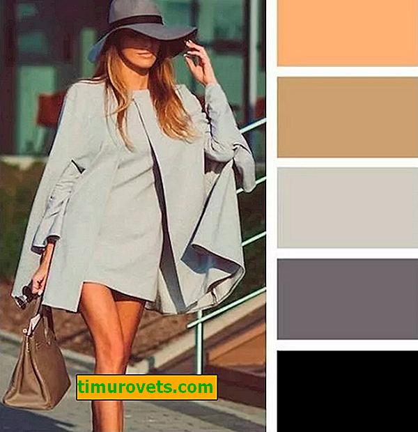 Kombinasjonen av grått og brunt i klær