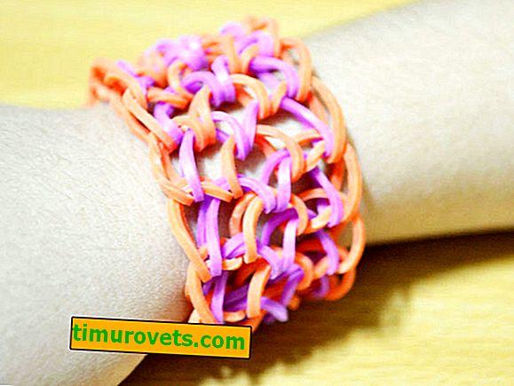 Wie man Armbänder aus Gummi auf einem Webstuhl webt?