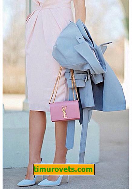 La combinación de azul y rosa en la ropa.