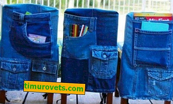 Organizador de bolsos de calça jeans