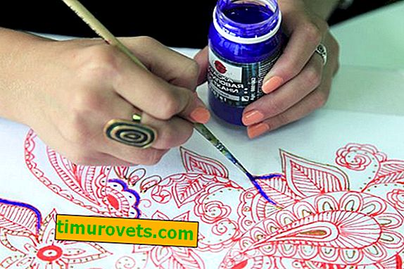 How to draw a pattern on the fabric: master class