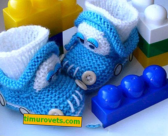 Chaussons tricotés pour un garçon